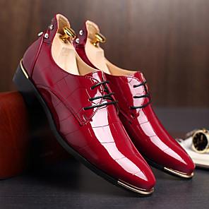 cheap Men's Oxfords-Men's Formal Shoes TPU Fall / Winter Wedding Shoes Black / Navy Blue / Red / Dress Shoes / EU42