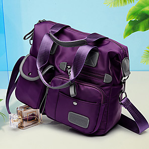 cheap Handbag & Totes-Women's Bags PU Leather / Nylon Tote for Event / Party / Outdoor / Office & Career Black / Blue / Purple / Fall & Winter