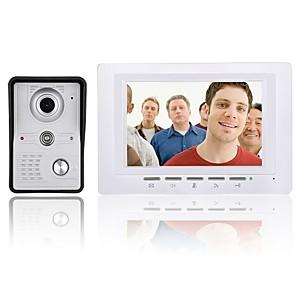 cheap Video Door Phone Systems-7 Inch Video Door Phone Doorbell Intercom Kit Night Vision with IR-CUT CMOS 700TV Lines