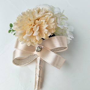cheap Party Accessories-Wedding Flowers Boutonnieres Wedding / Party Evening Polyester 3.94 inch