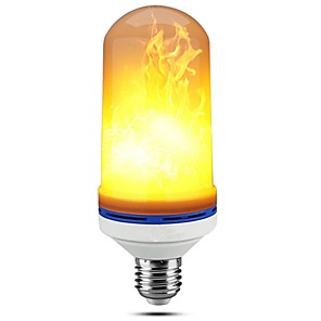 cheap LED Smart Home-LED Flame Effect Light Bulbs E27 Base SMD2835 99 LED Beads Simulated with Flickering for Halloween Christmas Party Bar Hotel Decorations 1pc RoHS