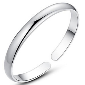 cheap Engraved Bracelets-Women's Bracelet Bangles Sterling Silver Bracelet Jewelry Silver For Christmas Gifts Wedding Party Daily Casual