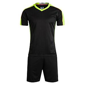 billiga Fotboll tröjor och shorts-Unisex Fotboll Shorts Tröja Träningsdräkter Tränare Mateial som andas Fotboll Enfärgad Polyester Rödvins röd Röd Blå