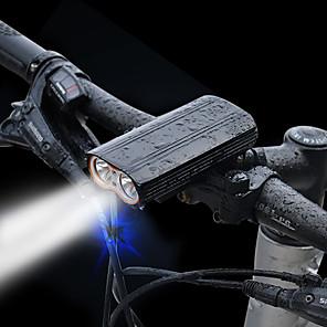 cheap Bike Lights & Reflectors-LED Bike Light LED Light LED Chip Front Bike Light LED Bicycle Cycling Waterproof Portable Warning Quick Release Li-ion 2400 lm Rechargeable Built-in Li-Battery Powered USB White Cycling / Bike