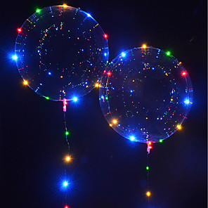 cheap Wedding Decorations-Holiday Birthday LED Lighting LED Bubble balloon Glow in the Dark New Design Kid's Adults' for Birthday Gifts and Party Favors  1 pcs