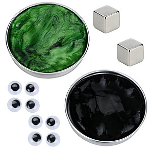 cheap Toy Cars-2 pcs Magnet Toy Magnetic Putty Building Blocks Super Strong Rare-Earth Magnets Neodymium Magnet Puzzle Cube Thinking Putty Magnetic DIY Magnetic Type Stress and Anxiety Relief Office Desk Toys