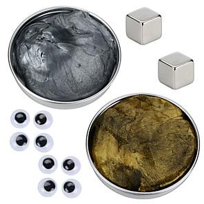 billige Magnetiske leker-2 pcs Magnetiske leker Magnetisk deig Byggeklosser Supersterke neodyme magneter Neodym-magnet Puzzle Cube Tenkende Putty Magnetisk Gør Det Selv Magnetisk Type Stress og angst relief Office Desk Leker