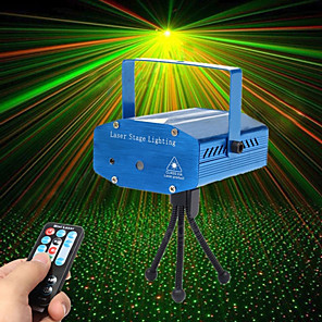 cheap Dolls Accessories-U'King Disco Lights Party Light Laser Stage Light Sound-Activated / Remote Control / Music-Activated 10 W For Home / Outdoor / Party Professional / Stage Disco Red Green for Dance Party Wedding DJ