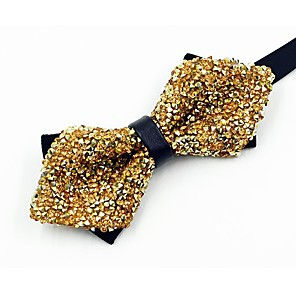 cheap Wedding Party Dresses-Men's Vintage / Party Bow Tie - Crystal / Rhinestone