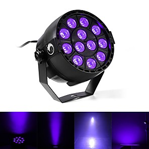 cheap Car Charger-U'King Disco Lights Party Light LED Stage Light / Spot Light DMX 512 / Master-Slave / Sound-Activated 12 W Outdoor / Party / Club Professional Violet for Dance Party Wedding DJ Disco Show Lighting