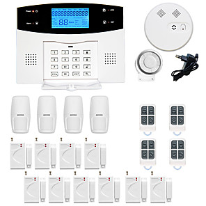 cheap CCTV Cameras-GSM / PSTN Platform SMS / Phone / Learning Code 433MHz Telephone Home Alarm Systems Infrared Detector Remote Controller Transmmitter Siren Smoke Detector Door Window Sensor Motion Sensor