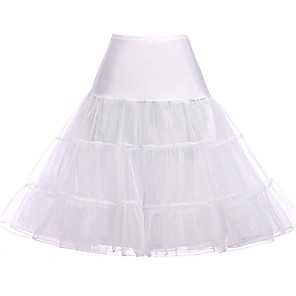 cheap Lolita Dresses-Princess Lolita Women's Petticoat Hoop Skirt Tutu Cosplay Yellow / Red / Pink Knee Length Costumes