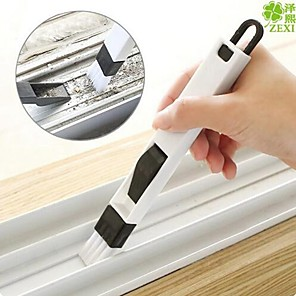 cheap Cell Phone Charms-2 in 1 multi-function window slot brush with dustpan screen keyboard drawer wardrobe corner gap Dust removal cleaning brush