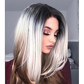 cheap Synthetic Lace Wigs-Synthetic Lace Front Wig kinky Straight kinky straight Layered Haircut Lace Front Wig Long Chocolate Synthetic Hair Women's Natural Hairline Brown Uniwigs