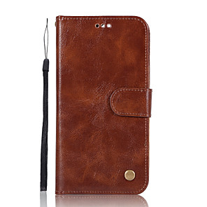 cheap Huawei Case-Case For Huawei P9 / Huawei P9 Lite / Huawei P10 Plus / P10 Lite / P10 Wallet / Card Holder / with Stand Full Body Cases Solid Colored Hard PU Leather