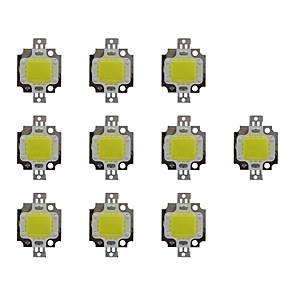 cheap LED Spot Lights-10pcs 800 lm Bulb Accessory Brass LED Chip 10 W