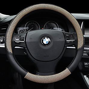 cheap Steering Wheel Covers-Steering Wheel Covers 38cm Beige / Coffee / Black / Red For universal General Motors All years