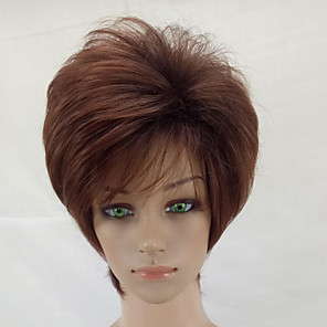 cheap Synthetic Trendy Wigs-Synthetic Wig Curly Curly Layered Haircut Wig Short Brown / Burgundy Synthetic Hair Brown hairjoy