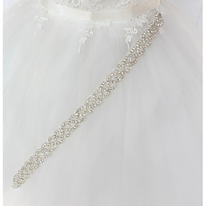 cheap Party Sashes-Metal Wedding / Special Occasion Sash With Rhinestone Women's Sashes