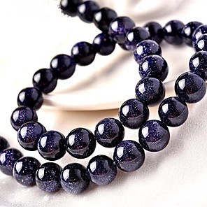 cheap Beads-DIY Jewelry 46 pcs Beads Crystal Blue Round Bead 0.8 cm DIY Necklace Bracelet