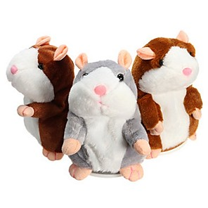 cheap Stuffed Animals-Electronic Pets Stuffed Animal Talking Stuffed Animals Plush Toy Plush Toys Plush Dolls Hamster Animal Sounds Animals Talking Strange Toys Imaginative Play, Stocking, Great Birthday Gifts Party Favor