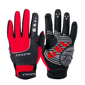 cheap Smart Wristbands-Nuckily Winter Bike Gloves / Cycling Gloves Mountain Bike Gloves Mountain Bike MTB Road Bike Cycling Thermal / Warm Touch Screen Reflective Adjustable Full Finger Gloves Sports Gloves Fleece Silicone