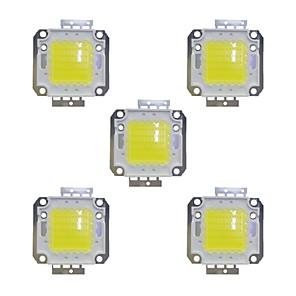 cheap Light Bulbs-5pcs 3800 lm Bulb Accessory Brass LED Chip 50 W