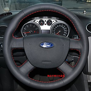 cheap Steering Wheel Covers-Steering Wheel Covers Genuine Leather 38cm For universal / Ford Focus / General Motors