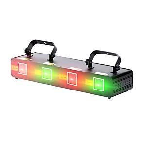 cheap Stage Lights-U'King Disco Lights Party Light Laser Stage Light 9 DMX 512 / Master-Slave / Sound-Activated Party / Stage / Bar Professional / Durable Red Green for Dance Party Wedding DJ Disco Show Lighting