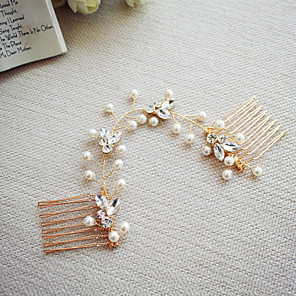 cheap Religious Jewelry-Pearl with Rhinestone 1pc Wedding / Party / Evening Headpiece