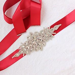 voordelige Sjerpen voor feesten-Satijn / tule Bruiloft / Speciale gelegenheden  Sjerp Met Strass Dames Sjerpen