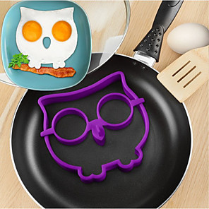 cheap novelty kitchen tools-Silicone Owl Fried Eggs Mold DIY Omelette Device Cooking Tools