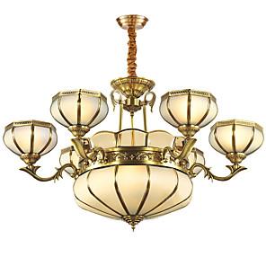 cheap Candle-Style Design-ZHISHU 5-Light 86 cm Mini Style Pendant Light Metal Glass Brass Traditional / Classic 110-120V / 220-240V