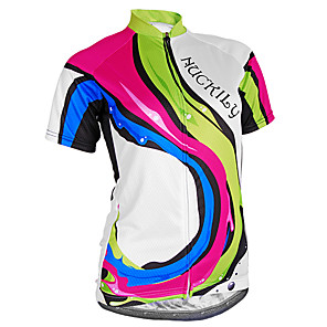 cheap Cycling Jerseys-Nuckily Women's Short Sleeve Cycling Jersey Polyester Lycra Camouflage Bike Jersey Top Mountain Bike MTB Road Bike Cycling Breathable Ultraviolet Resistant Reflective Strips Sports Clothing Apparel