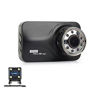 billige Bil-DVR-848 x 480 / 1280 x 720 / 1920 x 1080 Bil DVR 170 grader Bred vinkel 3 tommers Dash Cam med Night Vision / G-Sensor 9 infrarøde lysdioder Bilopptaker