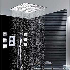 povoljno Kuhinjski sudoperi-Slavina za tuš - Suvremena Chrome Zidna ugradnja Keramičke ventila Bath Shower Mixer Taps / Brass