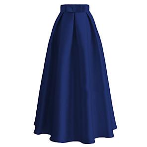 cheap Historical & Vintage Costumes-Audrey Hepburn Vintage Retro 1950s Ethnic Fashion Skirt Women's Silk Costume Black / Blue / Pink Vintage Cosplay Dailywear Ankle Length / Waist Belt / Waist Belt