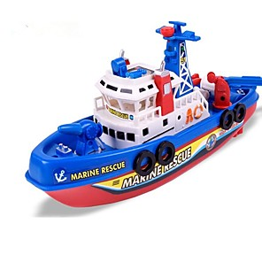 cheap Toy Cars-Toy Boat Boat Beach Theme Glow Sound activated LED lights Singing ABS Kid's Boys' Girls' Toy Gift 1 pcs