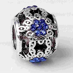 cheap Beads-DIY Jewelry 1 pcs Beads Imitation Diamond Alloy Silver Ball Bead 0.2 cm DIY Necklace Bracelet