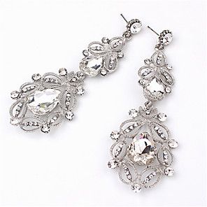 cheap Earrings-Women's Crystal Drop Earrings Pear Cut Drop Ladies Fashion Crystal Imitation Diamond Earrings Jewelry White / Blue For Wedding Daily Masquerade Engagement Party Prom Going out
