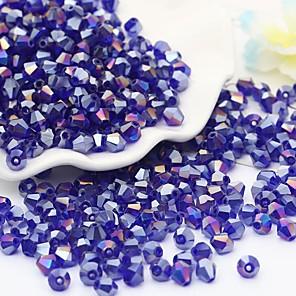 cheap Beads-DIY Jewelry 115 pcs Beads Glass Rainbow Red Green Light Blue Royal Blue Irregular Bead 0.4 cm DIY Necklace Bracelet