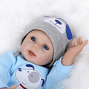 cheap Reborn Doll-NPKCOLLECTION 22 inch NPK DOLL Reborn Doll Baby Reborn Baby Doll lifelike Cute Hand Made Child Safe Non Toxic Cloth 3/4 Silicone Limbs and Cotton Filled Body 55cm with Clothes and Accessories for
