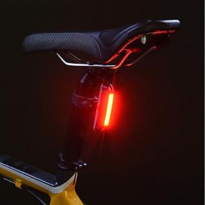 cheap Bike Lights & Reflectors-Bike Light Rear Bike Tail Light Safety Light Mountain Bike MTB Bicycle Cycling Waterproof Portable Alarm Warning Lithium USB