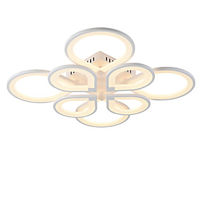 cheap Flush Mounts & Semi Flush Mounts-8-Light 8-Head Modern Style Simplicity Acrylic LED Ceiling Lamp Flush Mount Living Room Dining Room Light Fixture