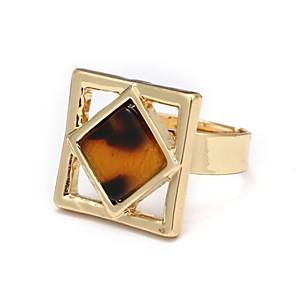 cheap Earrings-Women's Open Cuff Ring Onyx Gold Agate Alloy Geometric Ladies Simple Korean Daily Jewelry Geometrical
