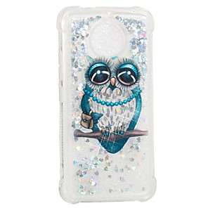cheap Other Phone Case-Case For Motorola Moto G5s / Moto E4 Shockproof / Flowing Liquid / Pattern Back Cover Owl Soft TPU