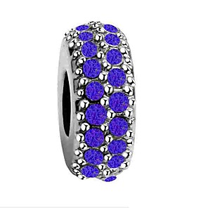 cheap Beads-DIY Jewelry 1 pcs Beads Imitation Diamond Alloy White Dark Blue Red Round Bead 0.5 cm DIY Necklace Bracelet