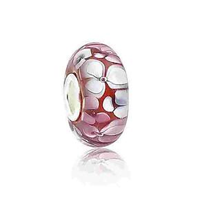 cheap Beads-DIY Jewelry 1 pcs Beads Coloured Glaze Alloy Light Pink Round Bead 0.2 cm DIY Necklace Bracelet
