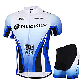 cheap Cycling Jersey & Shorts / Pants Sets-Nuckily Men's Women's Short Sleeve Cycling Jersey with Shorts Blue Gradient Bike Shorts Jersey Clothing Suit Waterproof Breathable Ultraviolet Resistant Waterproof Zipper Reflective Strips Sports