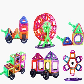 cheap Building Blocks-Magnetic Tiles Building Blocks 3D Magnetic Blocks Building Bricks 173 pcs Classic Theme STEAM Toy Transformable Educational Building Toys Boys' Girls' Toy Gift / Kid's